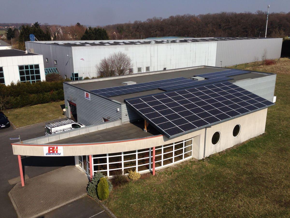 bh electricite panneaux solaires