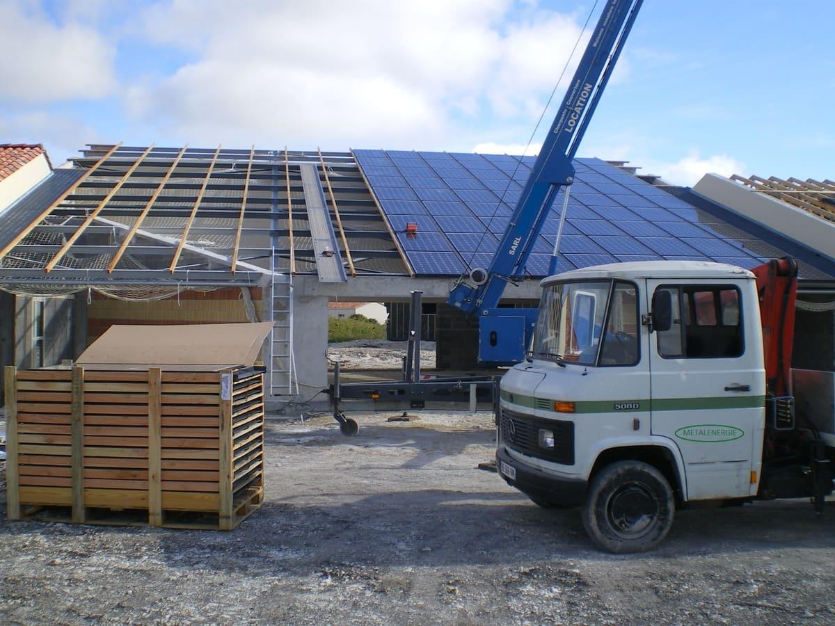 Chantier solaire Metal Énergie