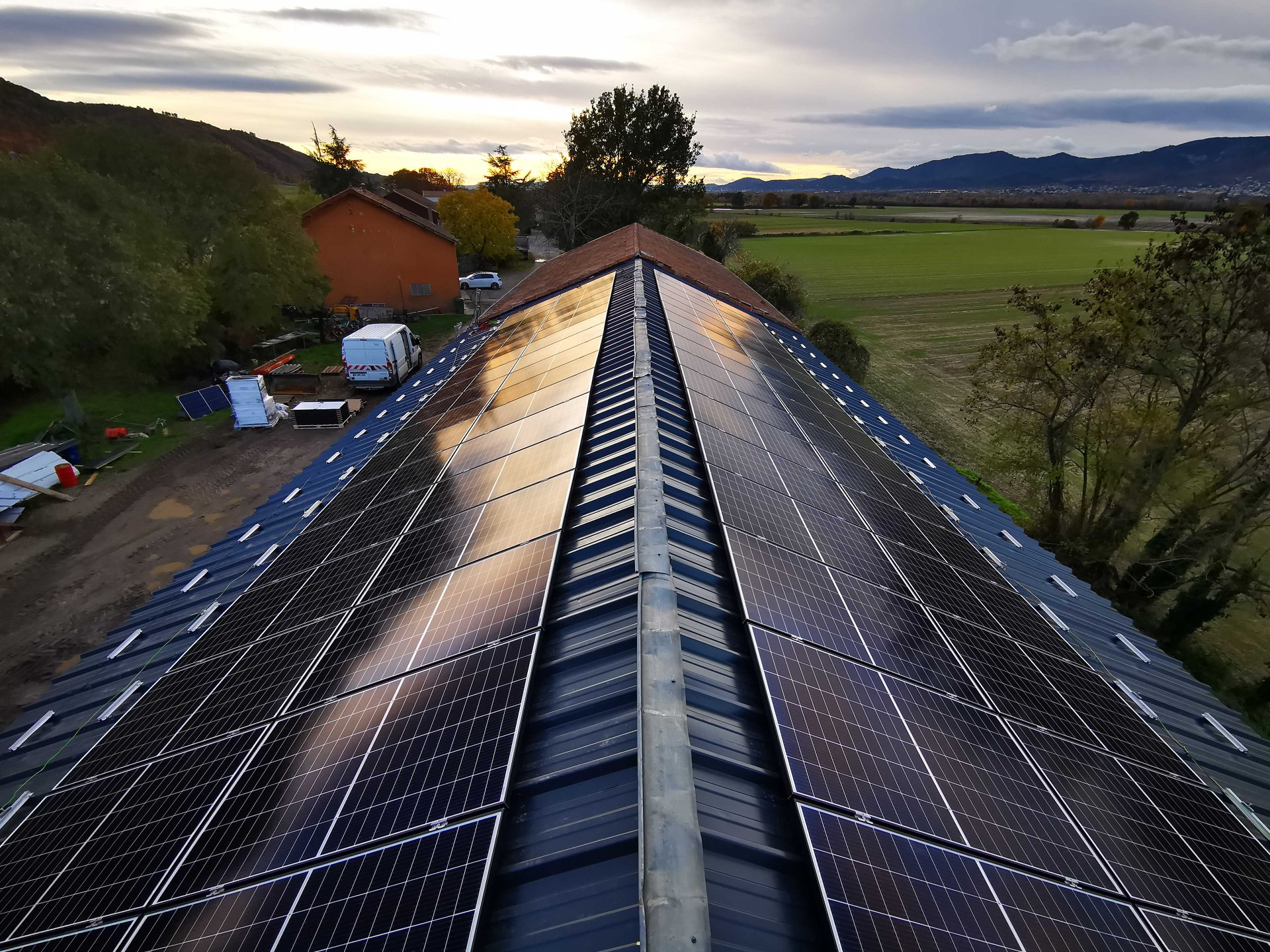 exemple de réalisation panneaux solaires silversun