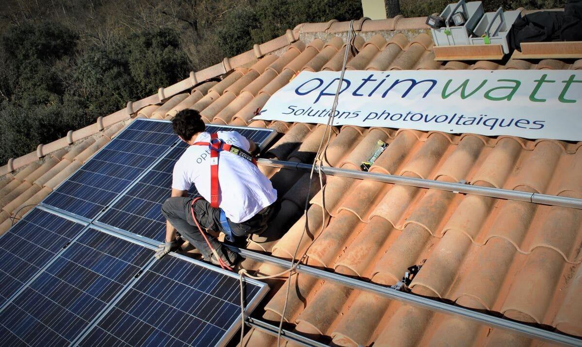 Travaux panneaux solaires Optimwatt