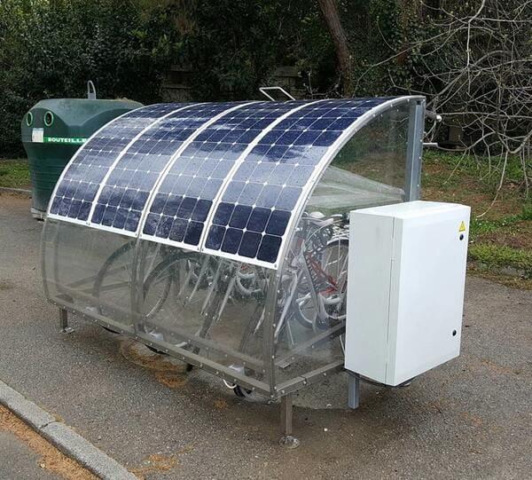 panneau solaire vélo Alectron