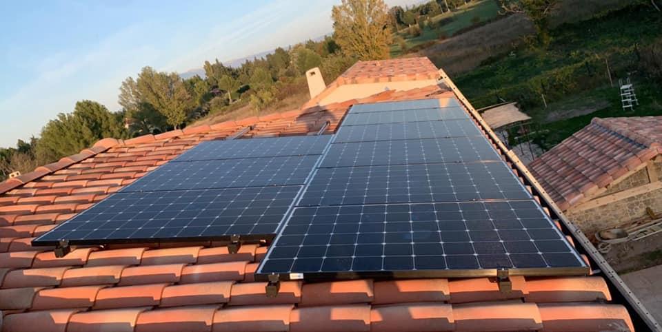 exemple réalisation panneaux solaires Provence Energie Solaire Services
