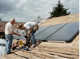 Pose panneaux solaire Michel Barget