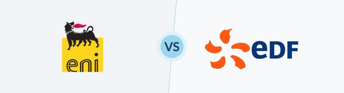 Eni ou EDF la comparaison des deux fournisseur avec leurs logos