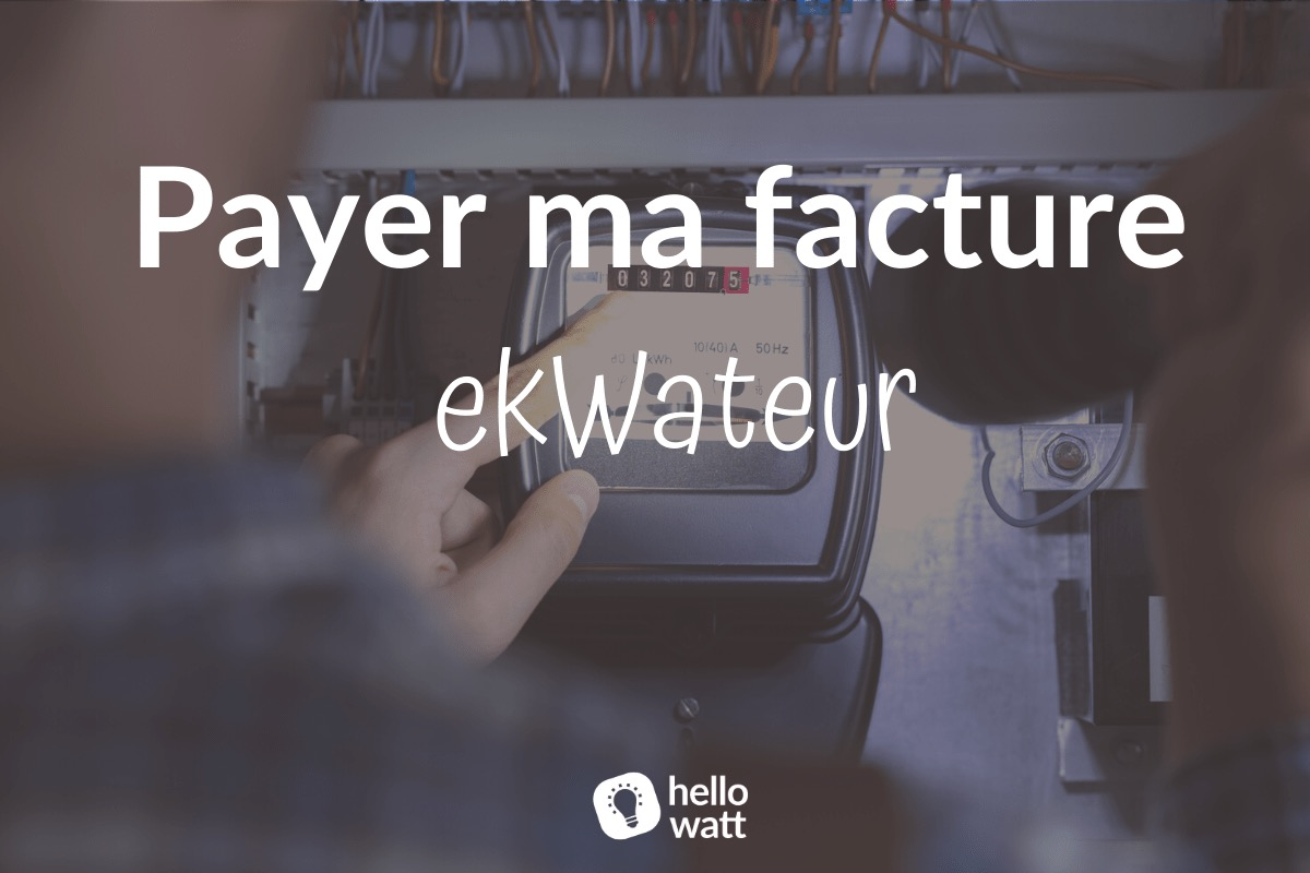 Payer ma facture ekWateur