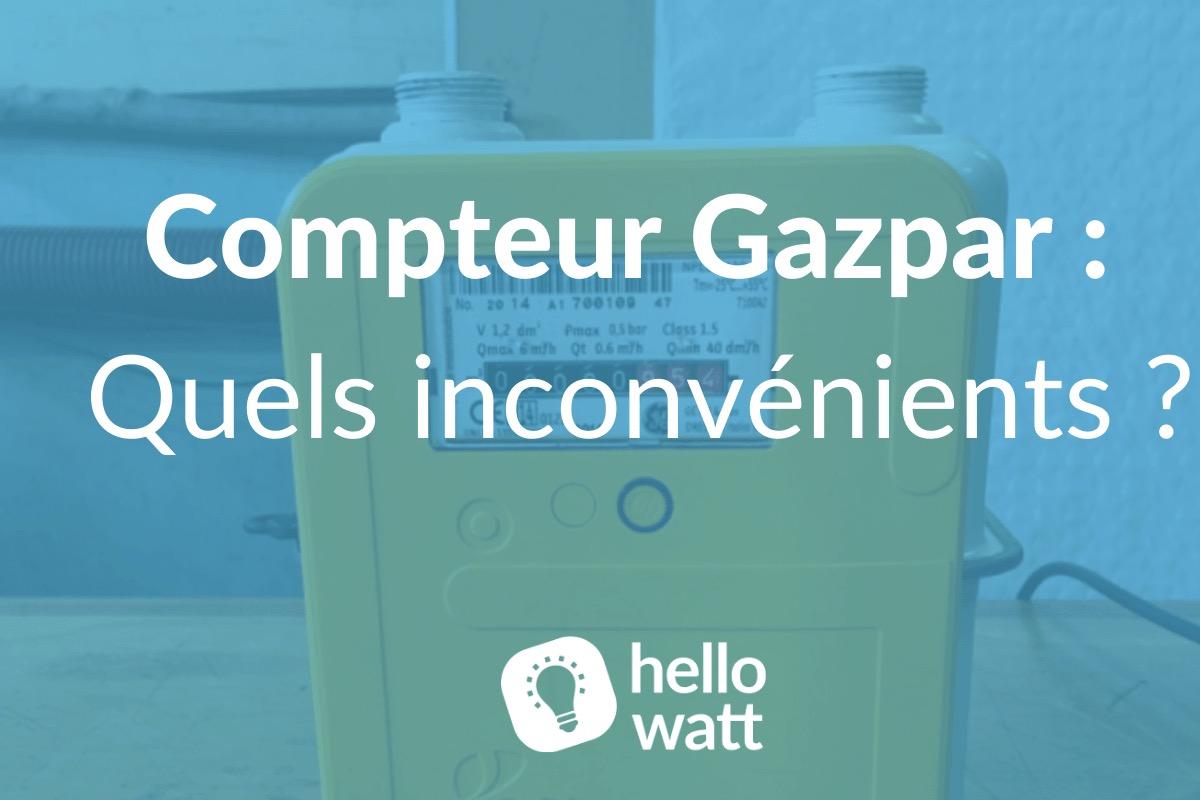 Quels sont les inconvénients du compteur Gazpar ?