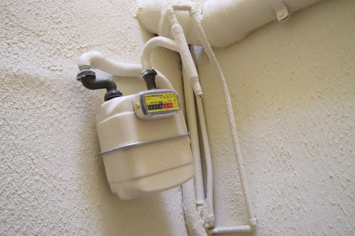 Relevé du compteur de gaz