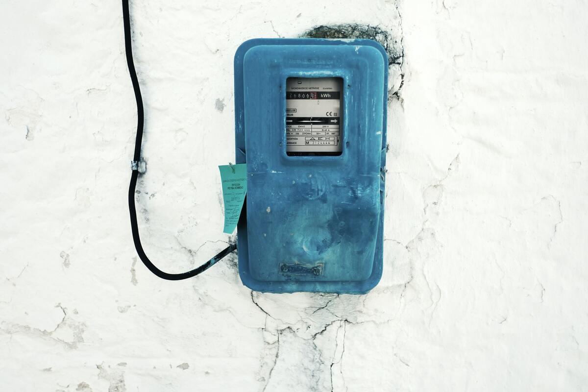 raccordement électrique compteur bleu