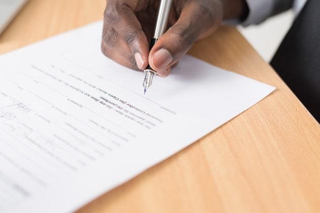 Signature résiliation contrat Eni