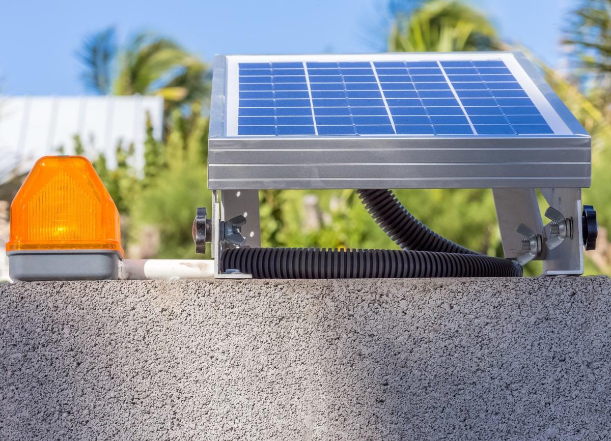 Motorisation de portail solaire