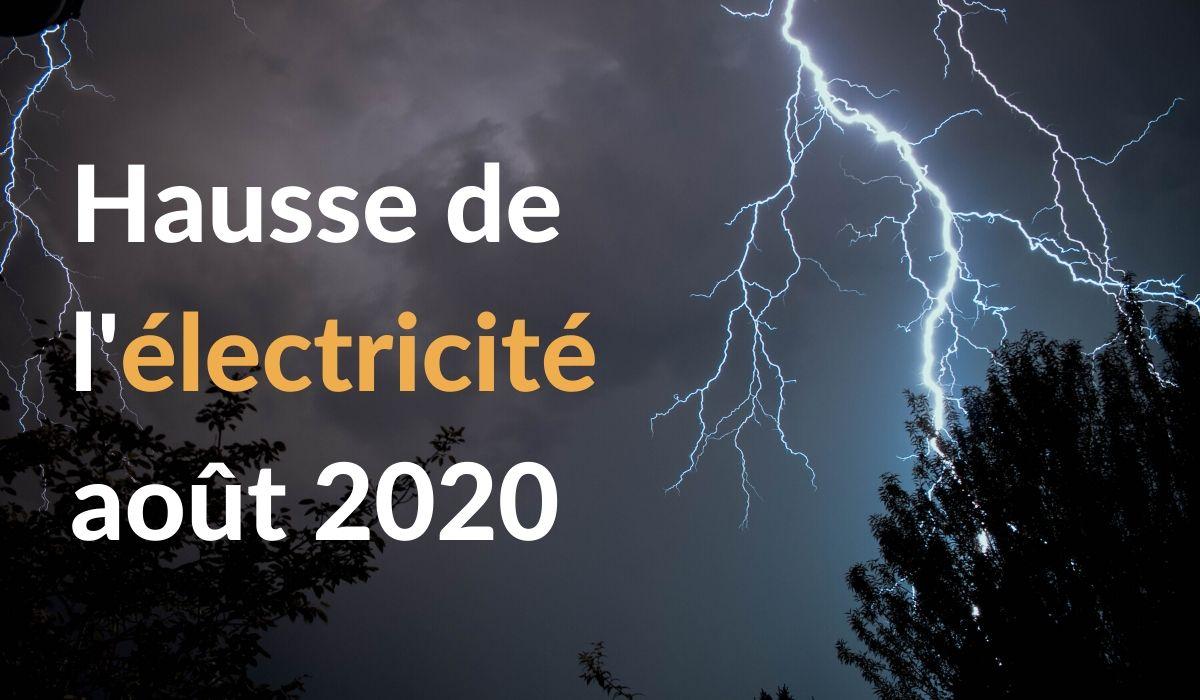 Hausse électricité août 2020