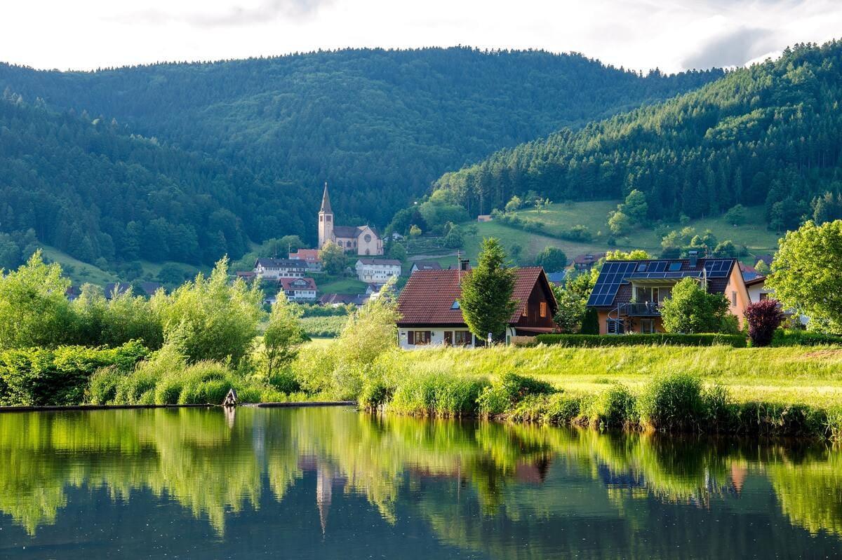 Village de campagne écologique