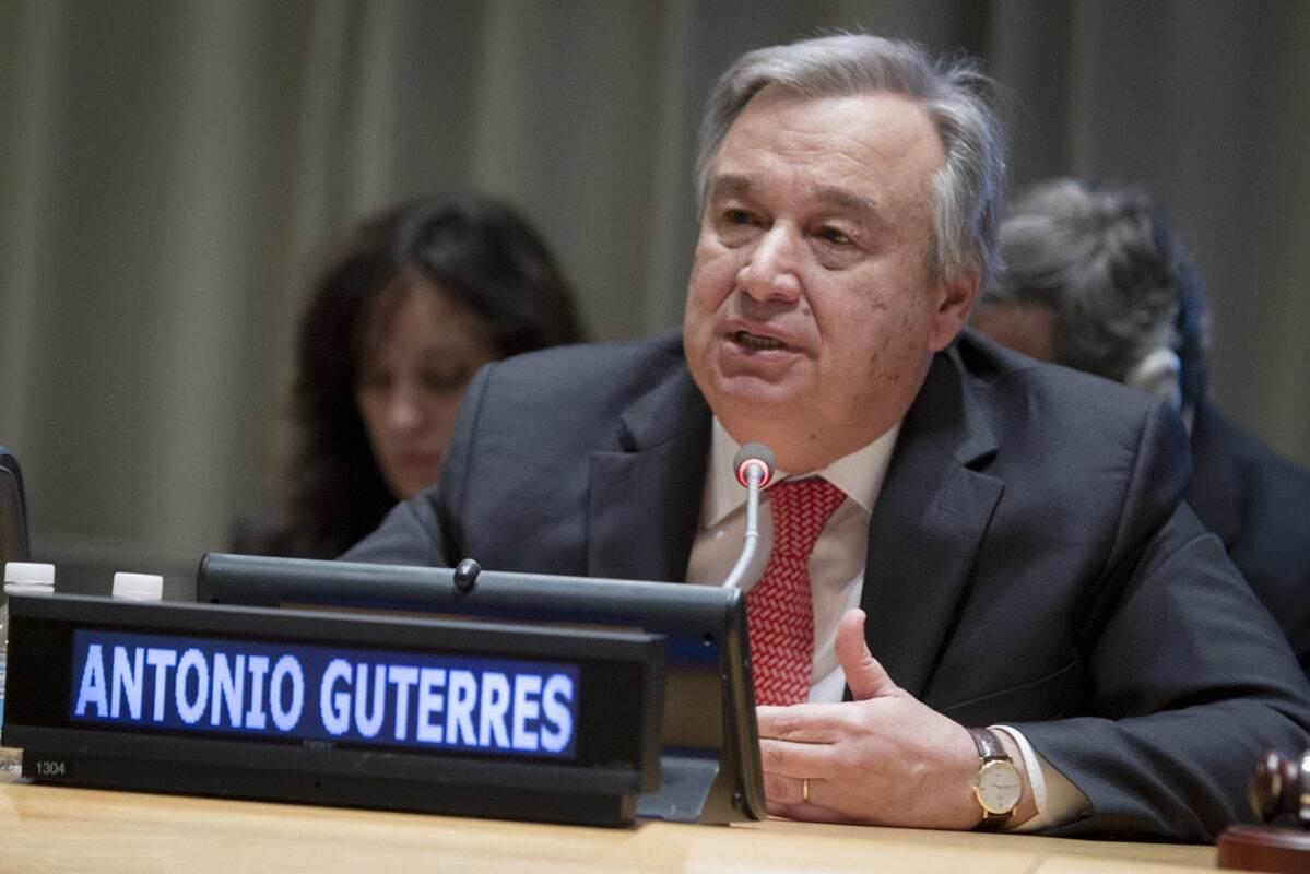 Antonio Guterres Secrétaire Général des Nations Unies