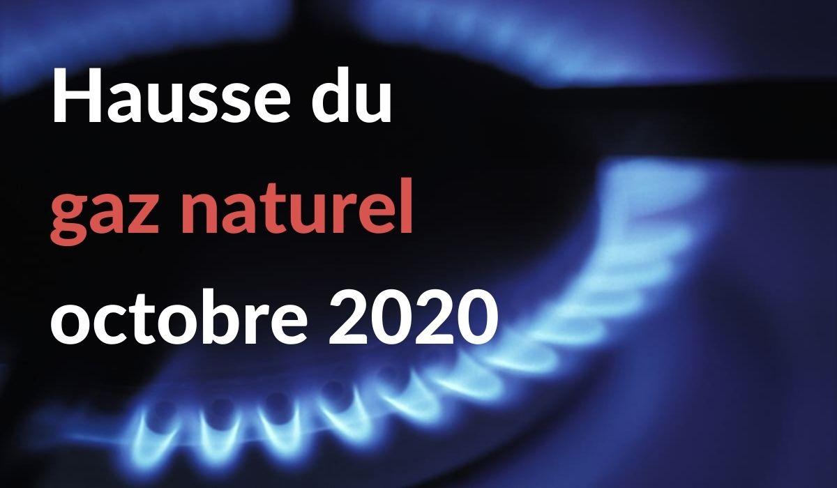 Hausse prix gaz octobre 2020