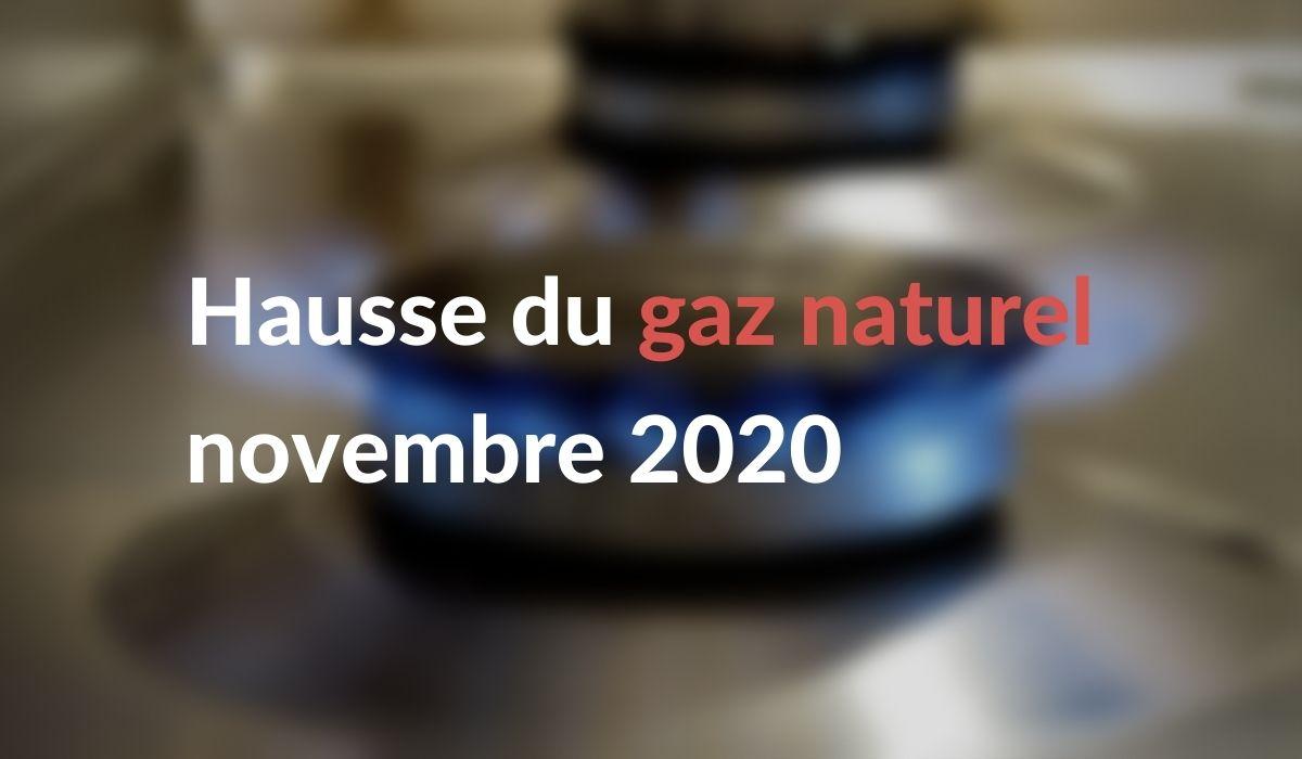 Hausse du prix du gaz novembre 2020