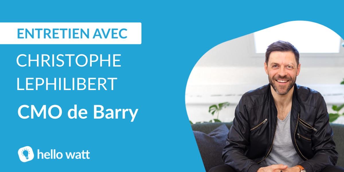 Christophe Lephilibert, CMO de Barry interview