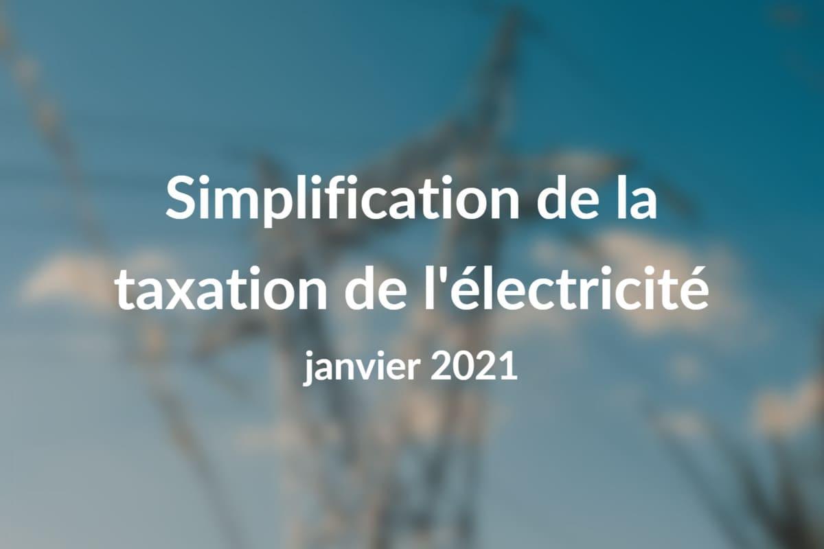 Simplification taxation électricité