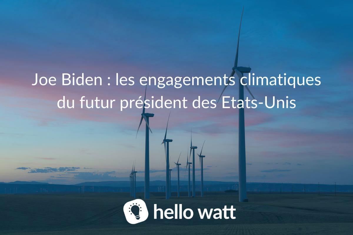 engagements climatiques joe biden