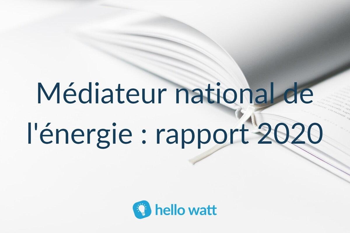 Rapport d'activité 2020 médiateur national de l'énergie